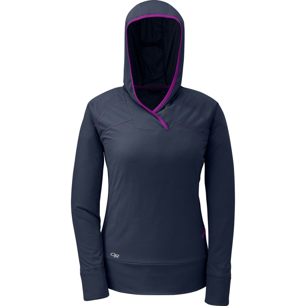 OUTDOOR RESEARCH Women's Echo Hoodie - NIGHT/ULTRAVIOLET