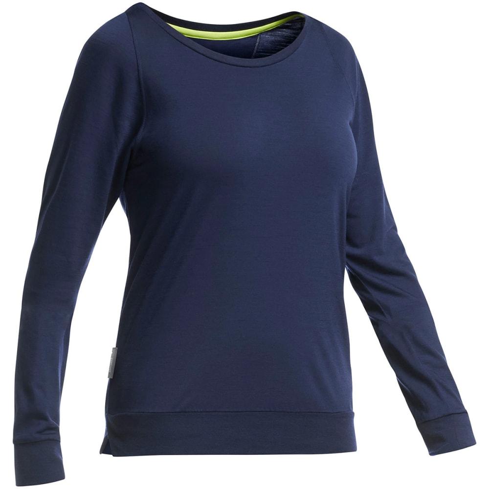 ICEBREAKER Women's Cool-Lite Sphere Long Sleeve Shirt - ADMIRAL HEATHER