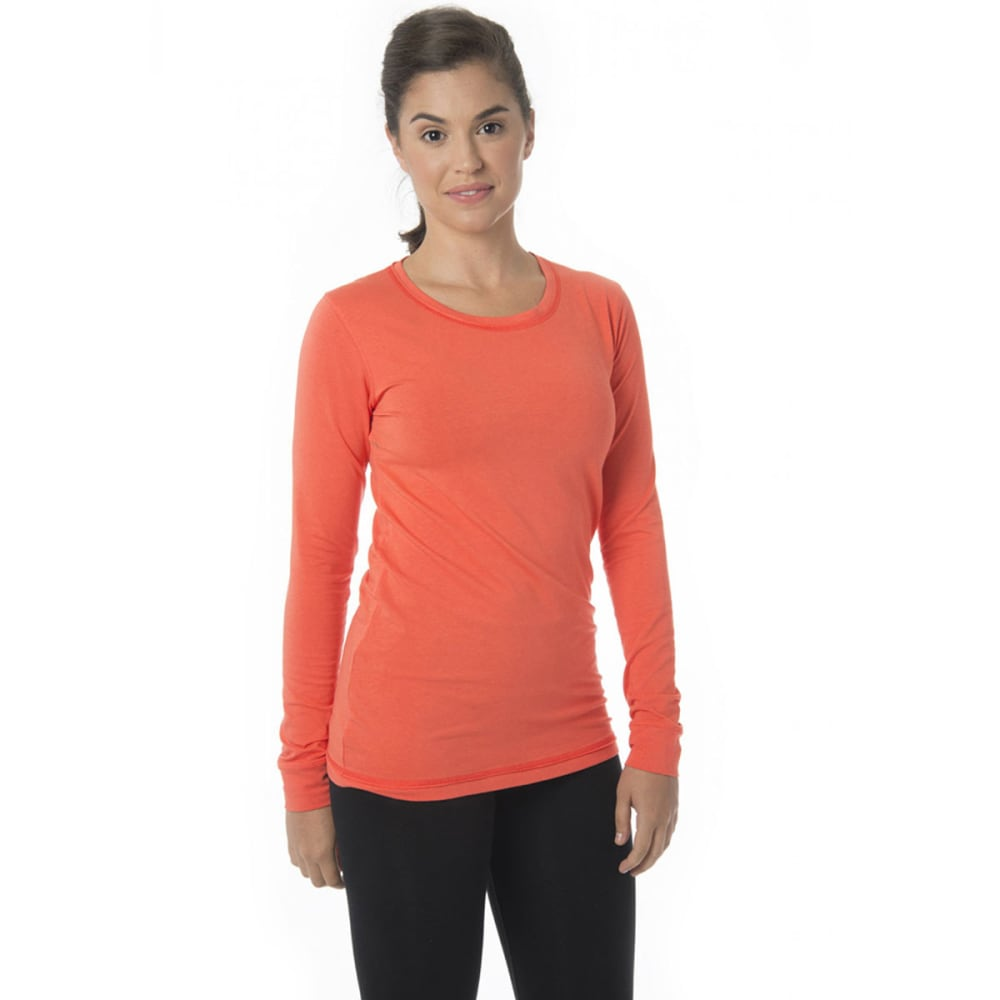 TASC Women's 365 Long-Sleeve Crew - HOT CORAL