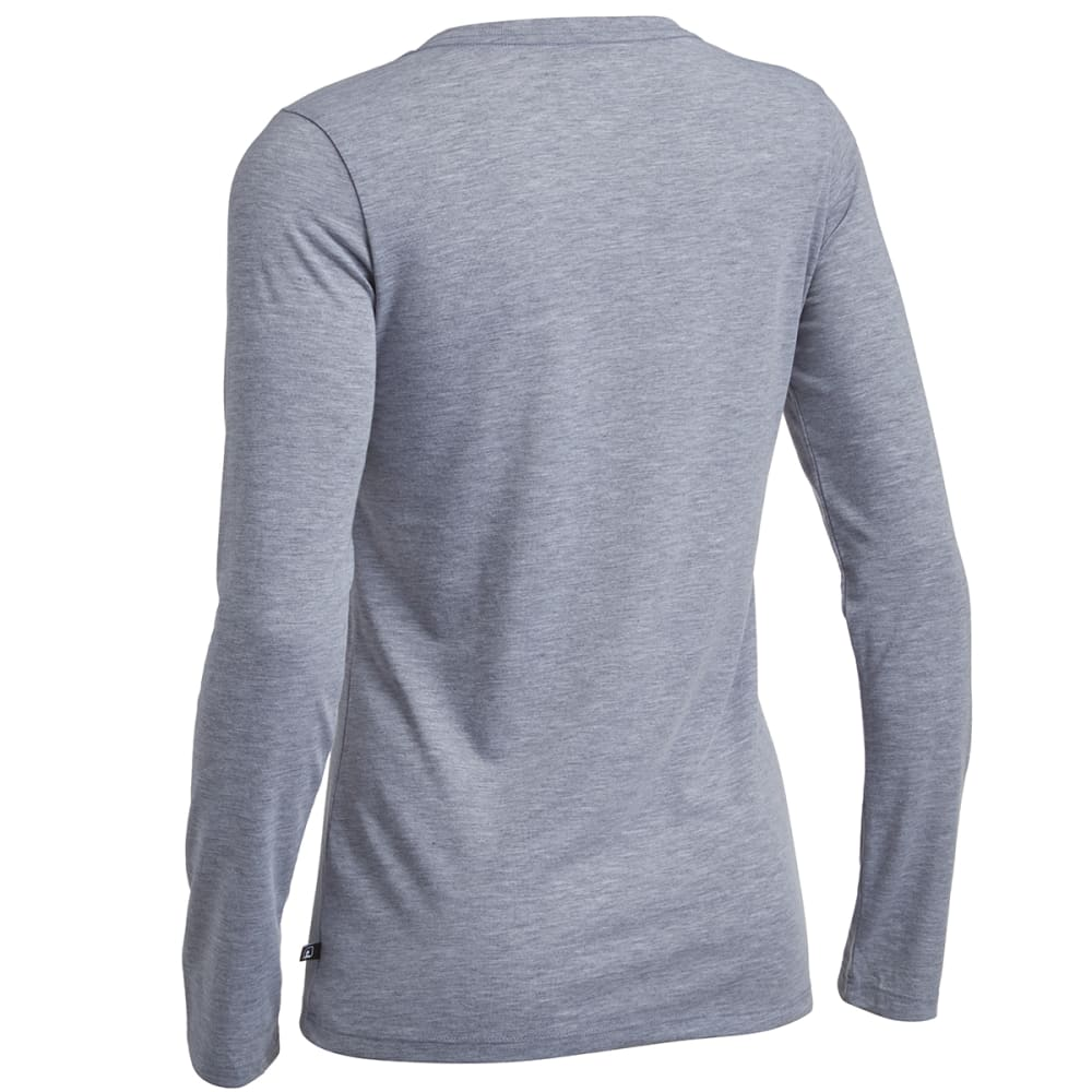 EMS® Women's Techwick® Vital Long-Sleeve V-Neck Tee - GRAY HEATHER