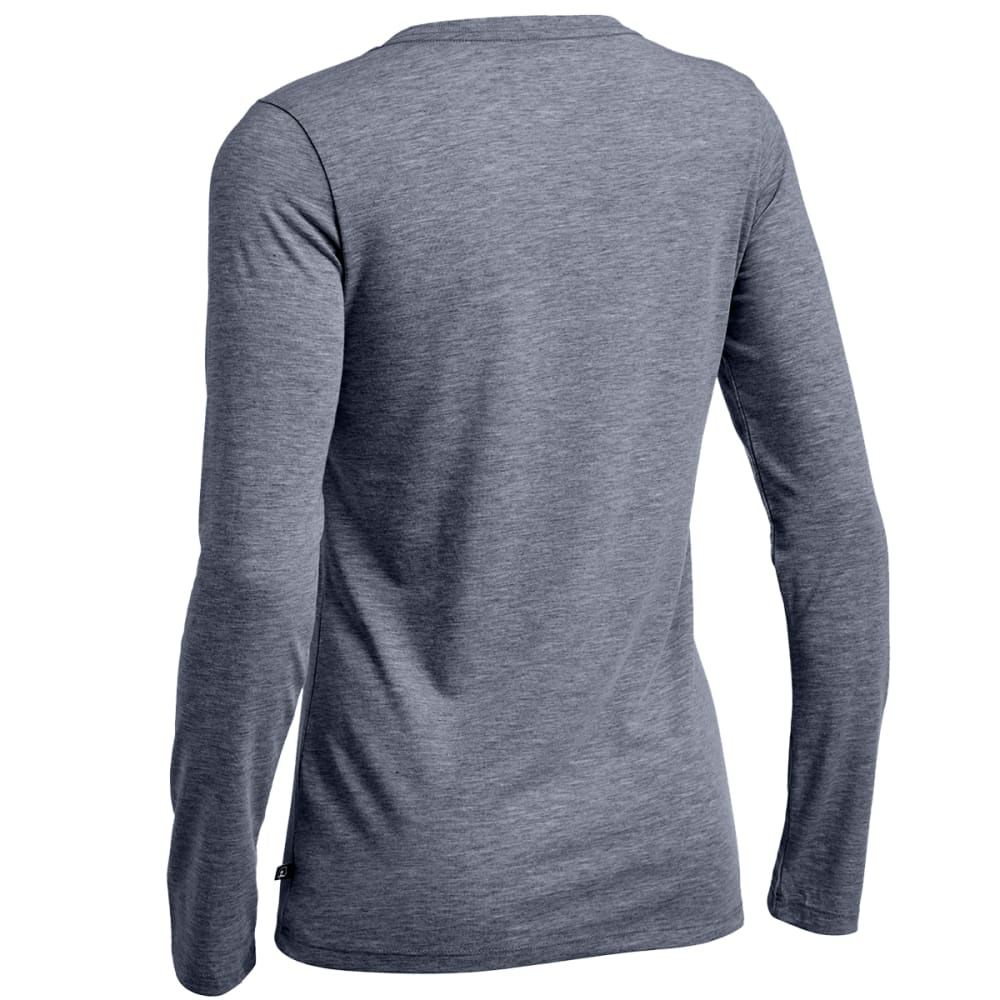 EMS® Women's Techwick® Vital Long-Sleeve V-Neck Tee - NEUTRAL GREY HTR