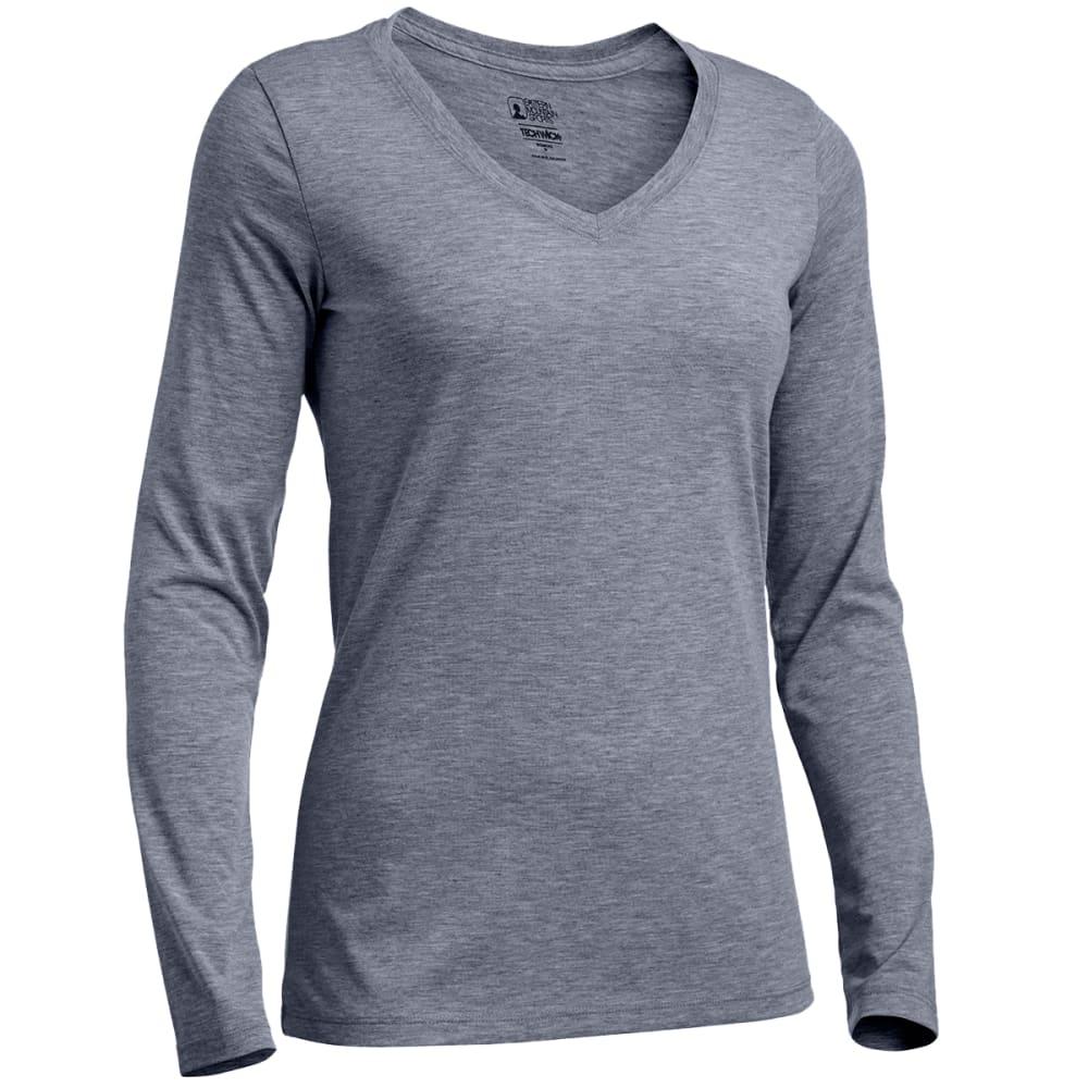 EMS® Women's Techwick® Vital Long-Sleeve V-Neck Tee - NEUTRAL GREY HTR