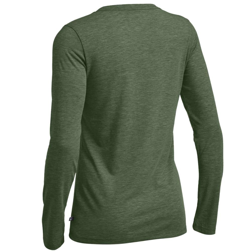 EMS® Women's Techwick® Vital Long-Sleeve V-Neck Tee - DEEP LAGOON HEATHER