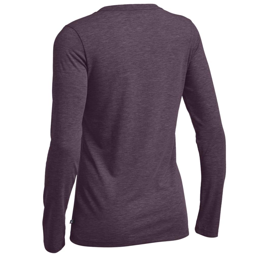 EMS® Women's Techwick® Vital Long-Sleeve V-Neck Tee - PLUM PERFECT HEATHER