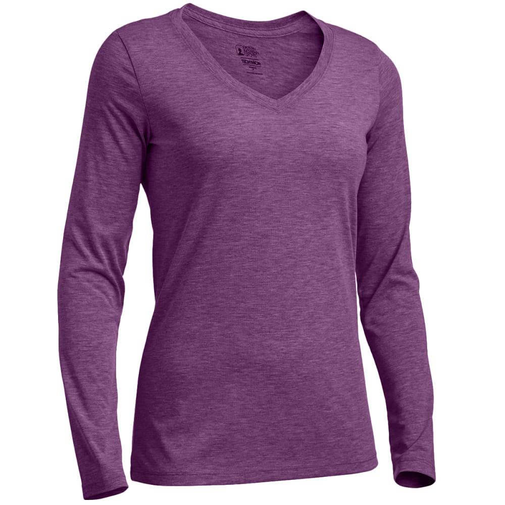 EMS® Women's Techwick® Vital Long-Sleeve V-Neck Tee - WOOD VIOLET HTR