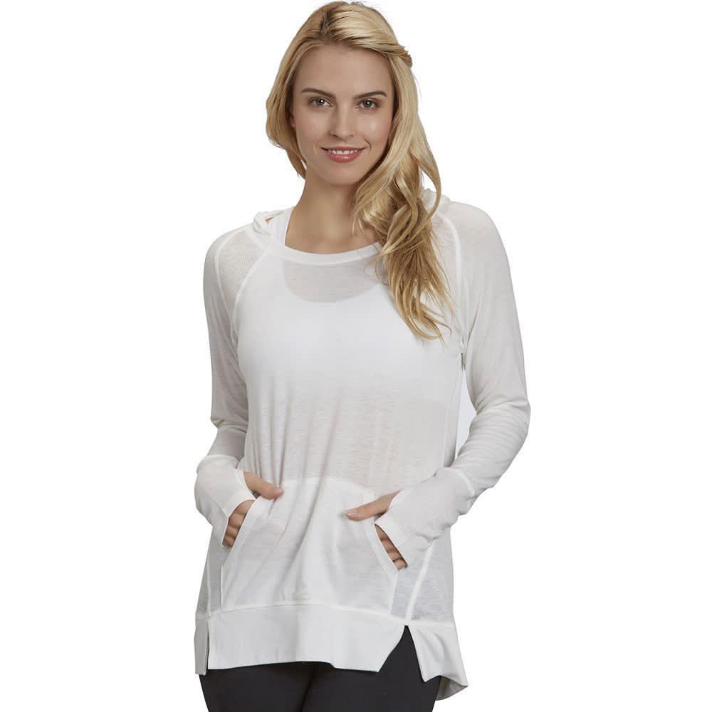 Marika Womens Raglan Yoga Tunic Hoodie - White - Size XL BCEA59SA