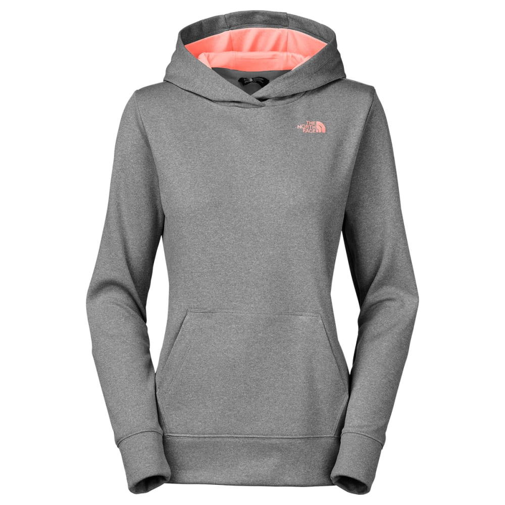 THE NORTH FACE Women's Fave Logo Pullover Hoodie - MEDIUM GREY