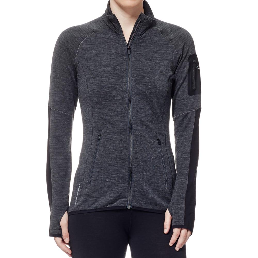 ICEBREAKER Women's Atom Zip Jacket - JET HTHR/BLK/JET HTH