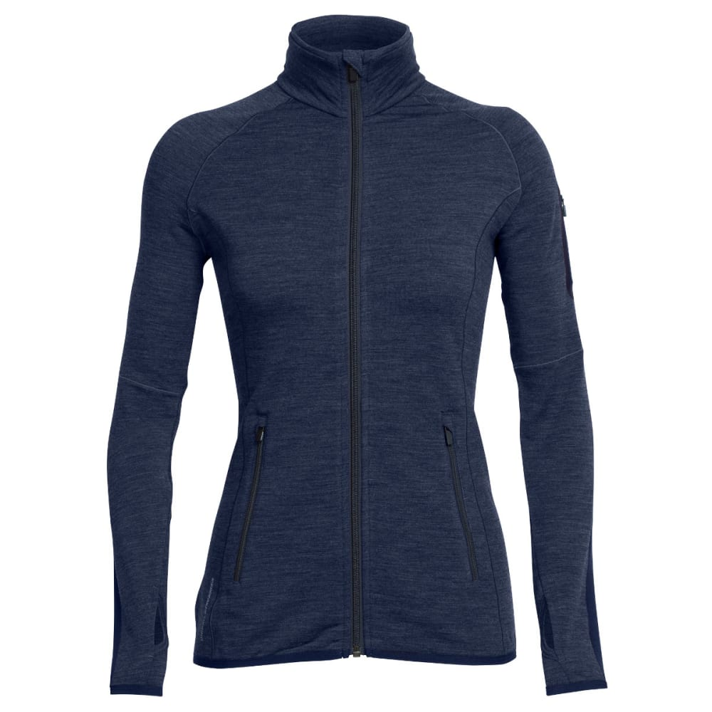 ICEBREAKER Women's Atom Zip Jacket - FATHOM H/ADM/F HTHR