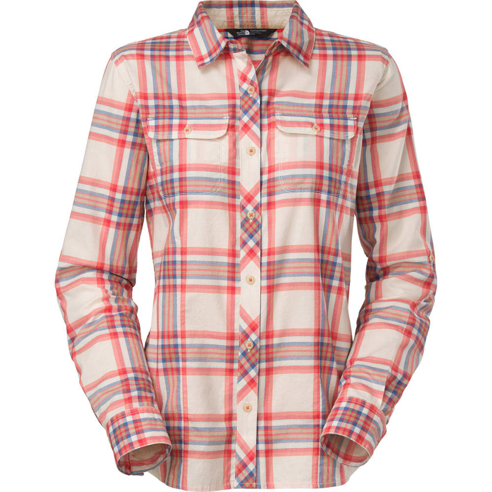 THE NORTH FACE Women's Baylyn Plaid Shirt - EMBERGLOW/VINTAGE WH