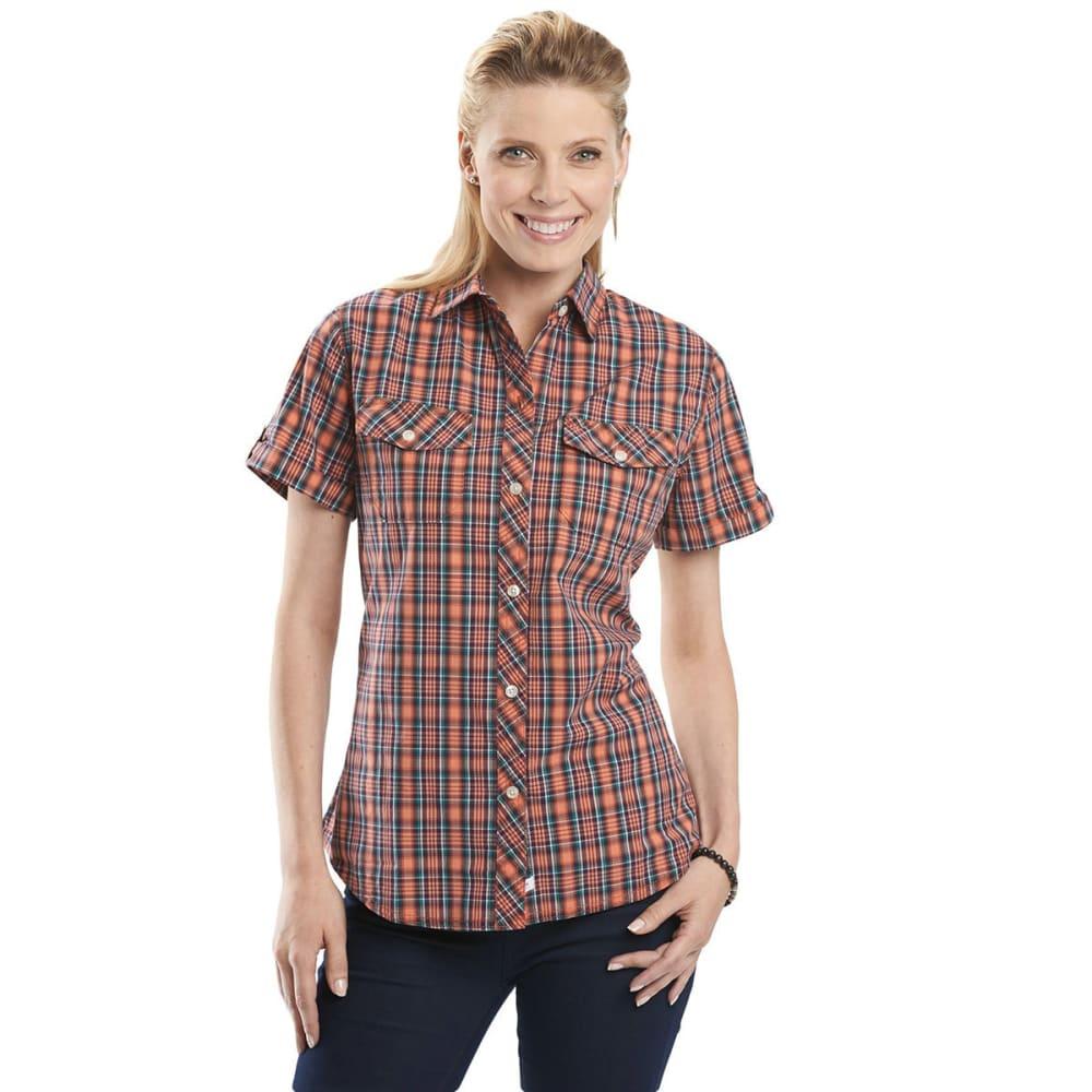 WOOLRICH Women's Spoil Her Short-Sleeve Shirt - GUAVA