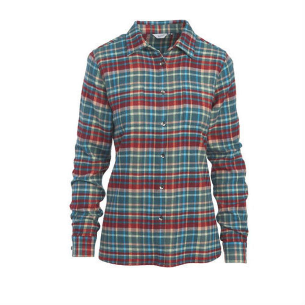 WOOLRICH Women's Pemberton Flannel Shirt - DARK TEAL