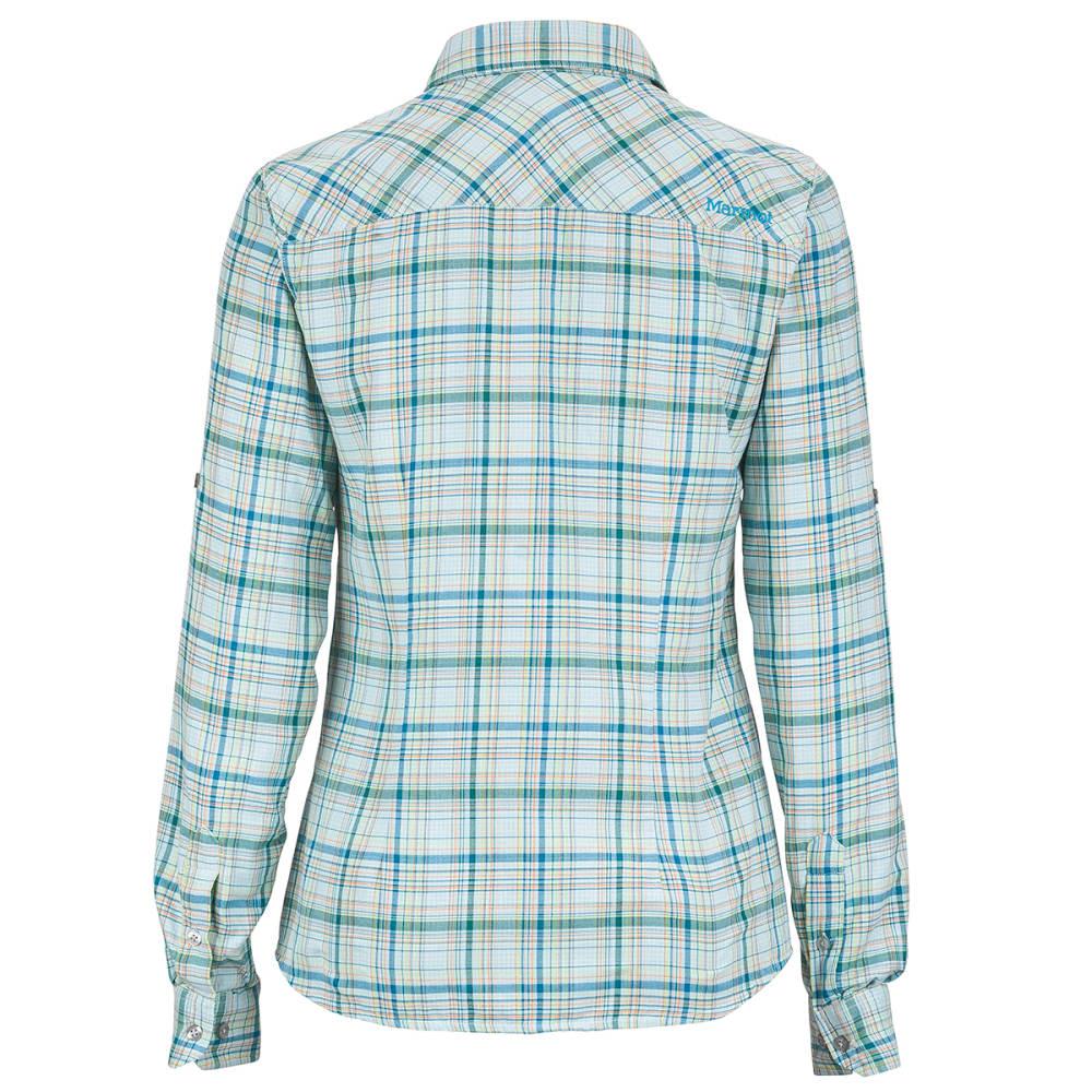 MARMOT Women's Evelyn Long-Sleeve Shirt - BLUE SEA
