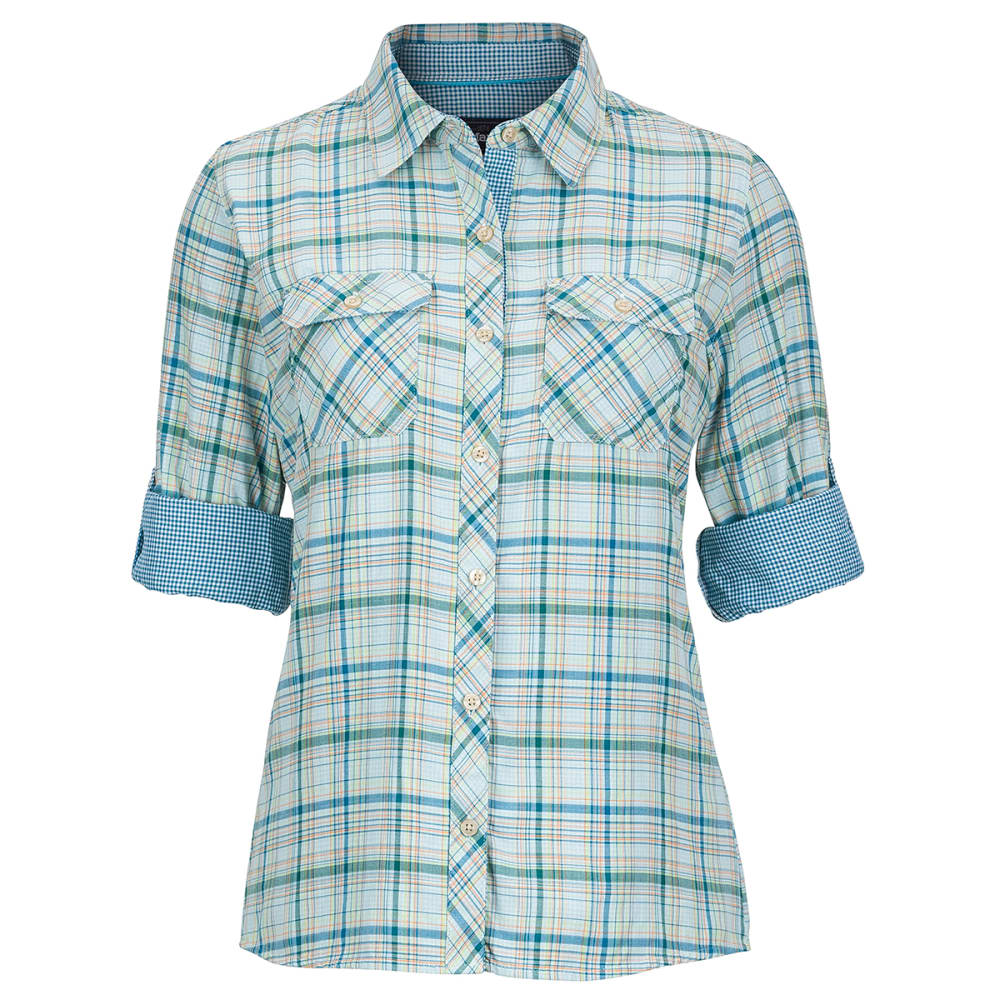 MARMOT Women's Evelyn Long-Sleeve Shirt - BLUE SEA