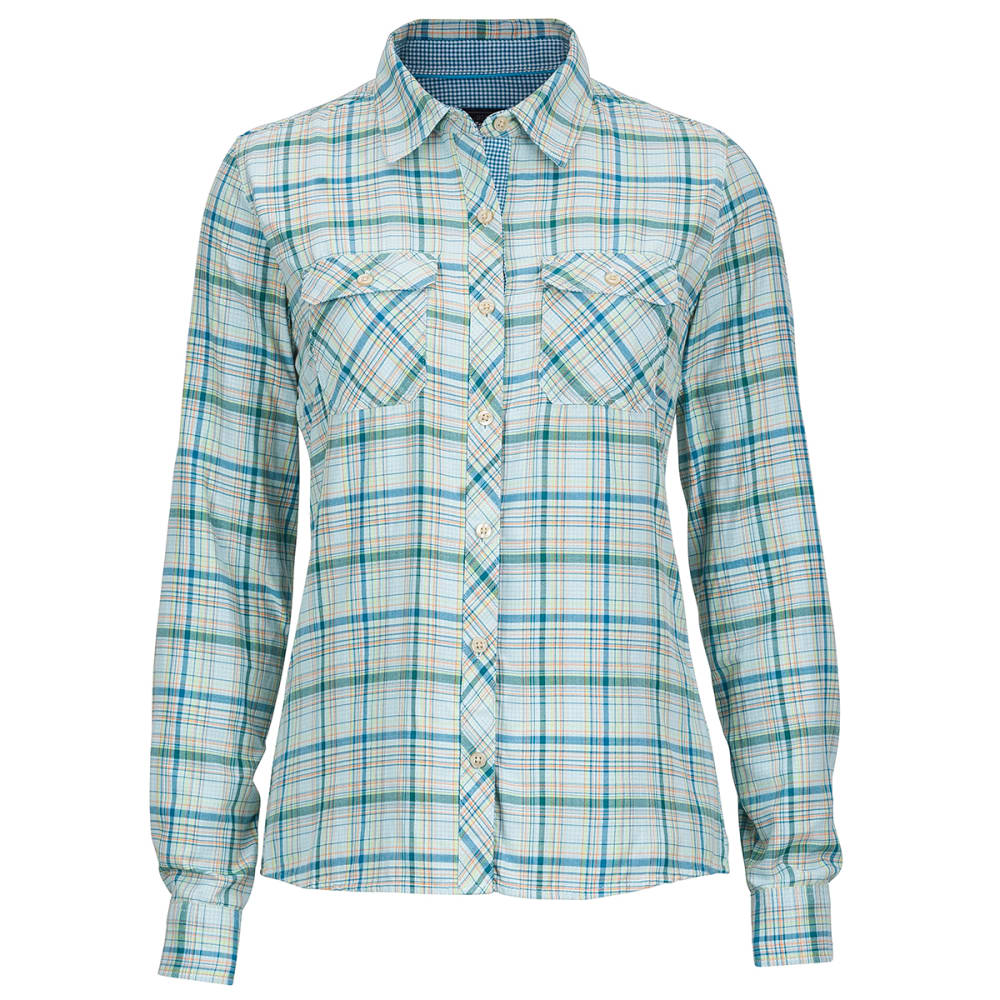 Marmot Women's Evelyn Long-Sleeve Shirt - Blue - Size S 56940