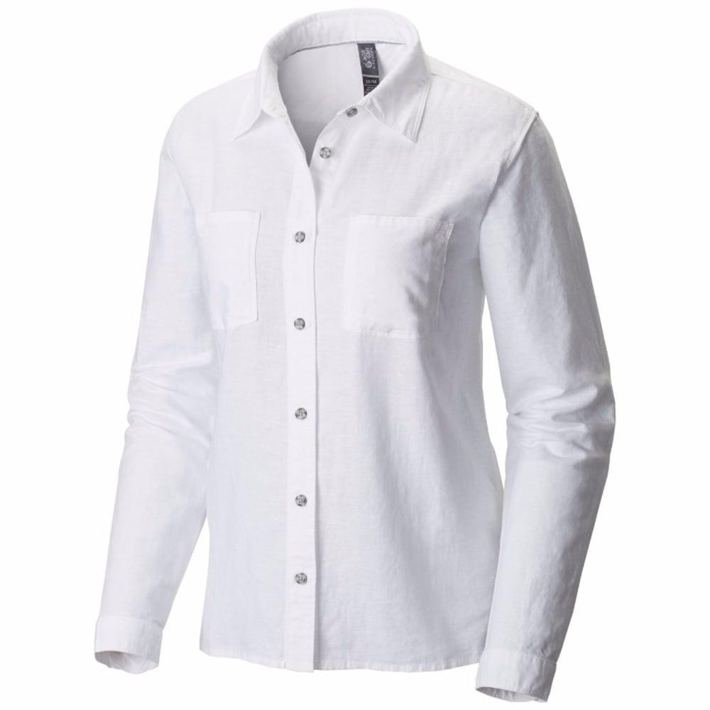 MOUNTAIN HARDWEAR Women's Bridger   Long-Sleeve Shirt - WHITE