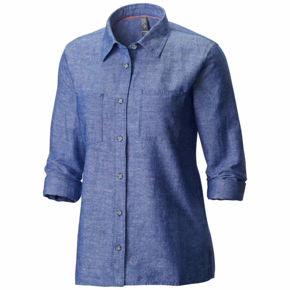 MOUNTAIN HARDWEAR Women's Bridger   Long-Sleeve Shirt - DYNASTY BLUE