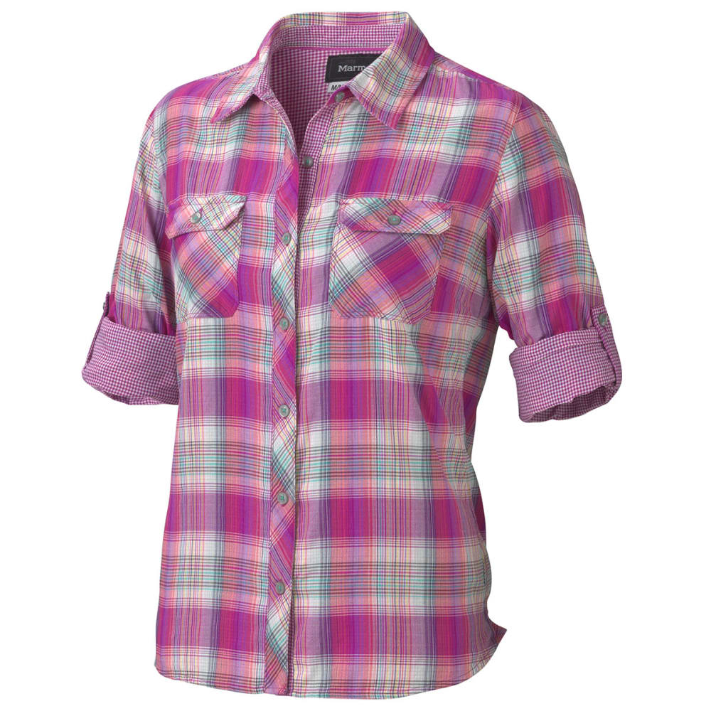 MARMOT Women's Evelyn Long-Sleeve Shirt - VIBRANT FUSCHIA