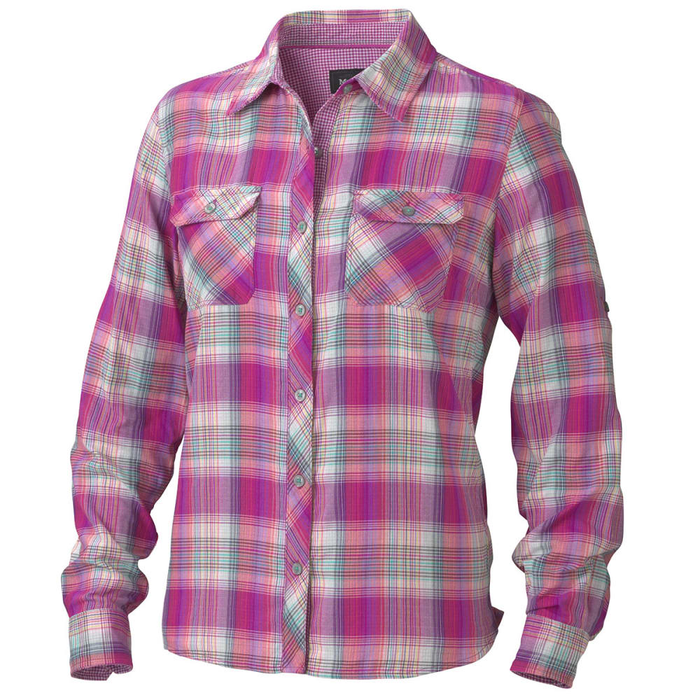 MARMOT Women's Evelyn Long Sleeve Shirt - VIBRANT FUSCHIA
