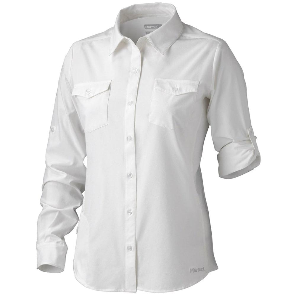 MARMOT Women's Annika Long Sleeve Shirt - 080-WHITE