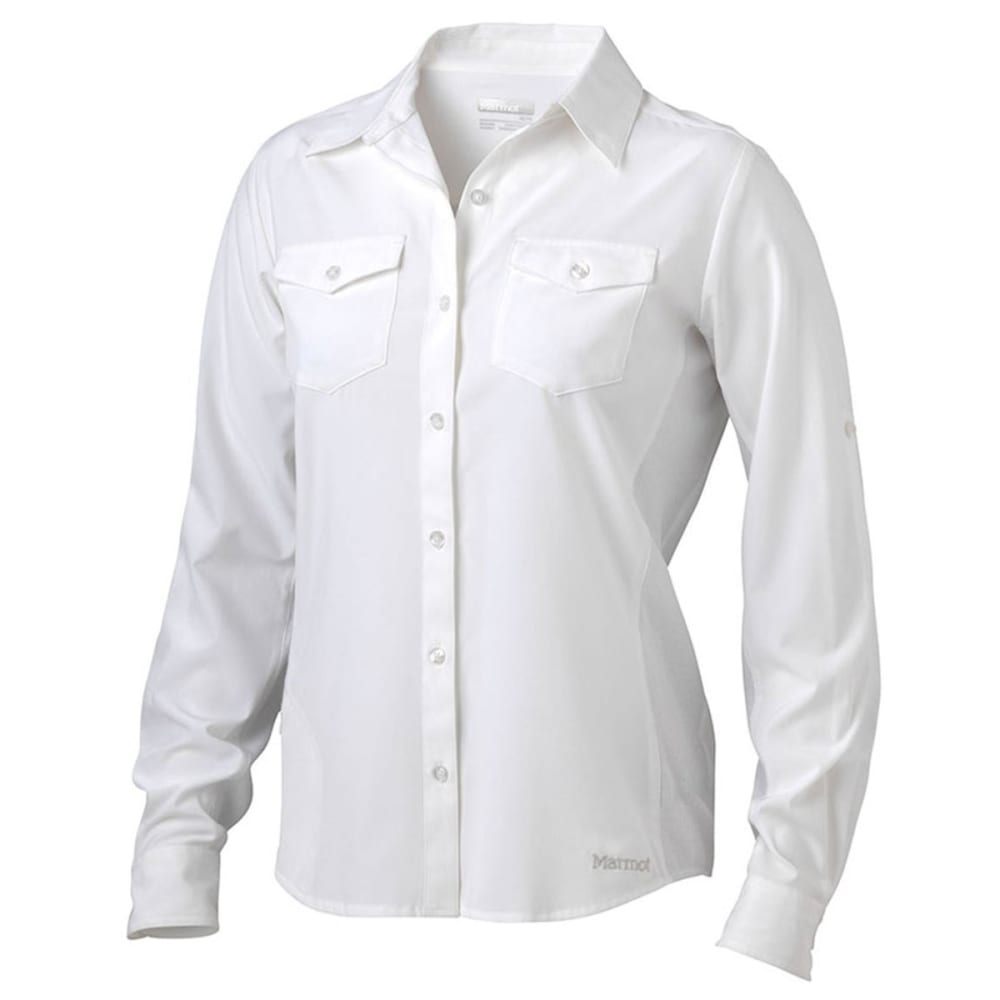 MARMOT Women's Annika Long-Sleeve Shirt - 080-WHITE