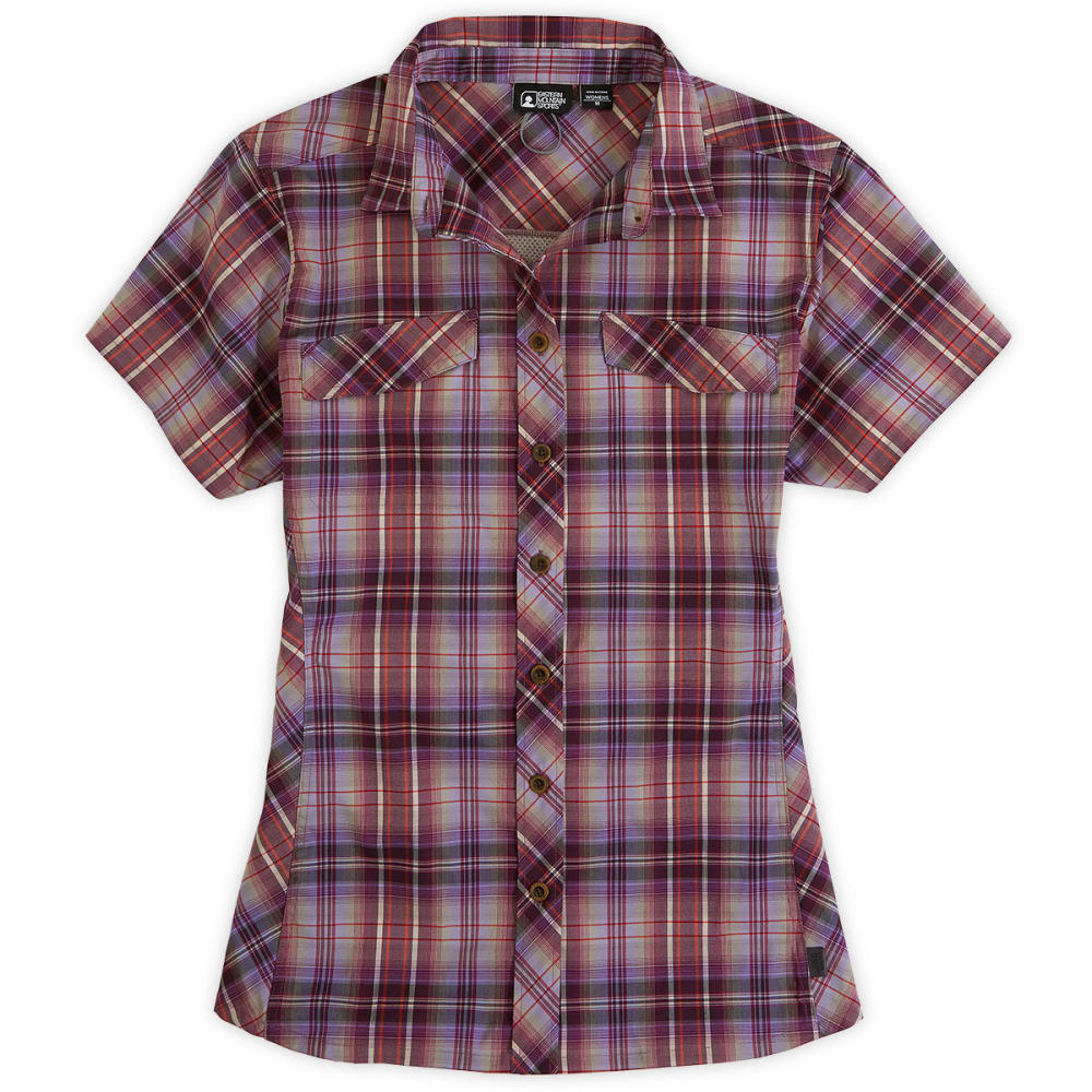 EMS® Women's Trailhead Plaid Shirt, S/S - FUSCHIA PLAID