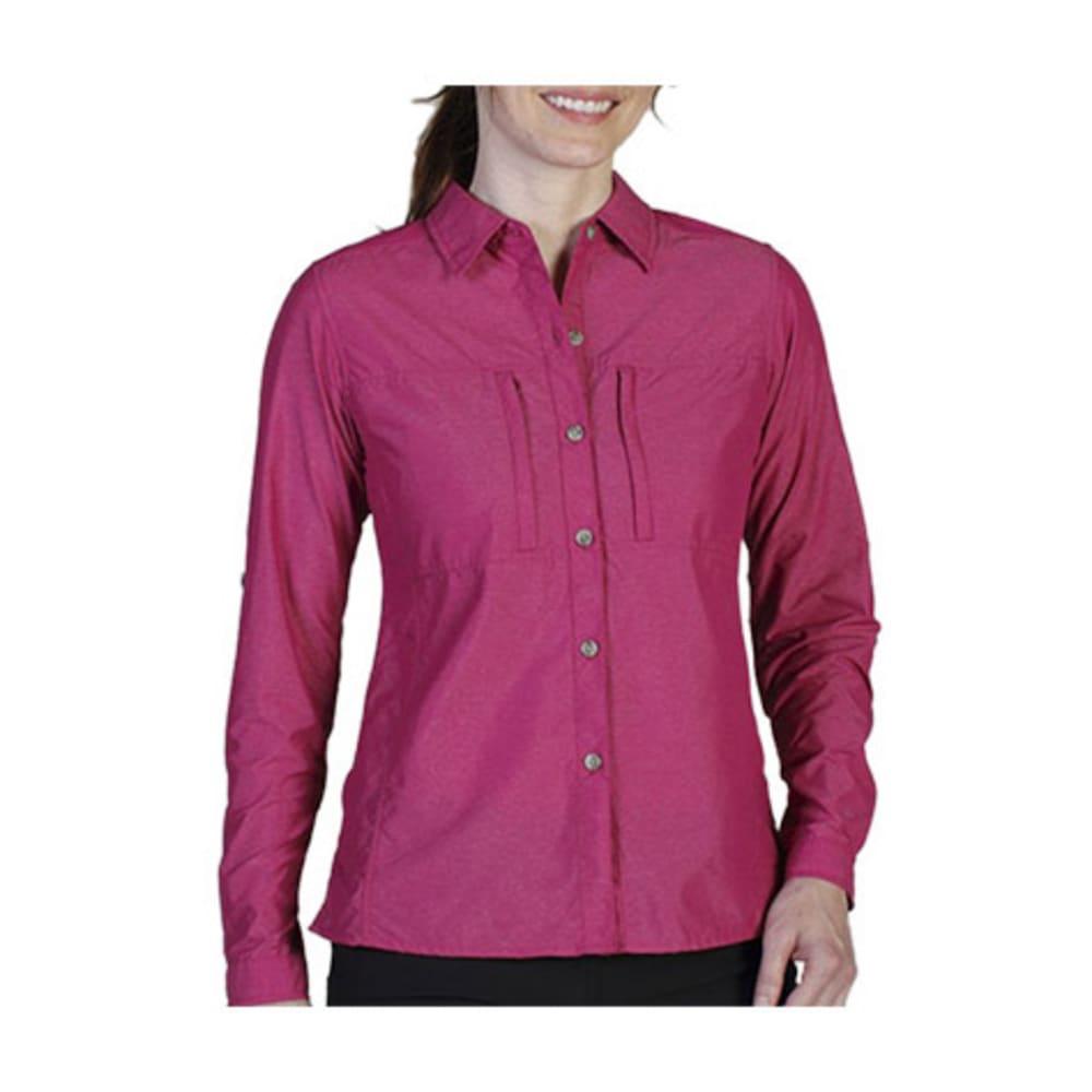 EXOFFICIO Women's Dryflylite Shirt, L/S, Pizazz  - PIZAZZ