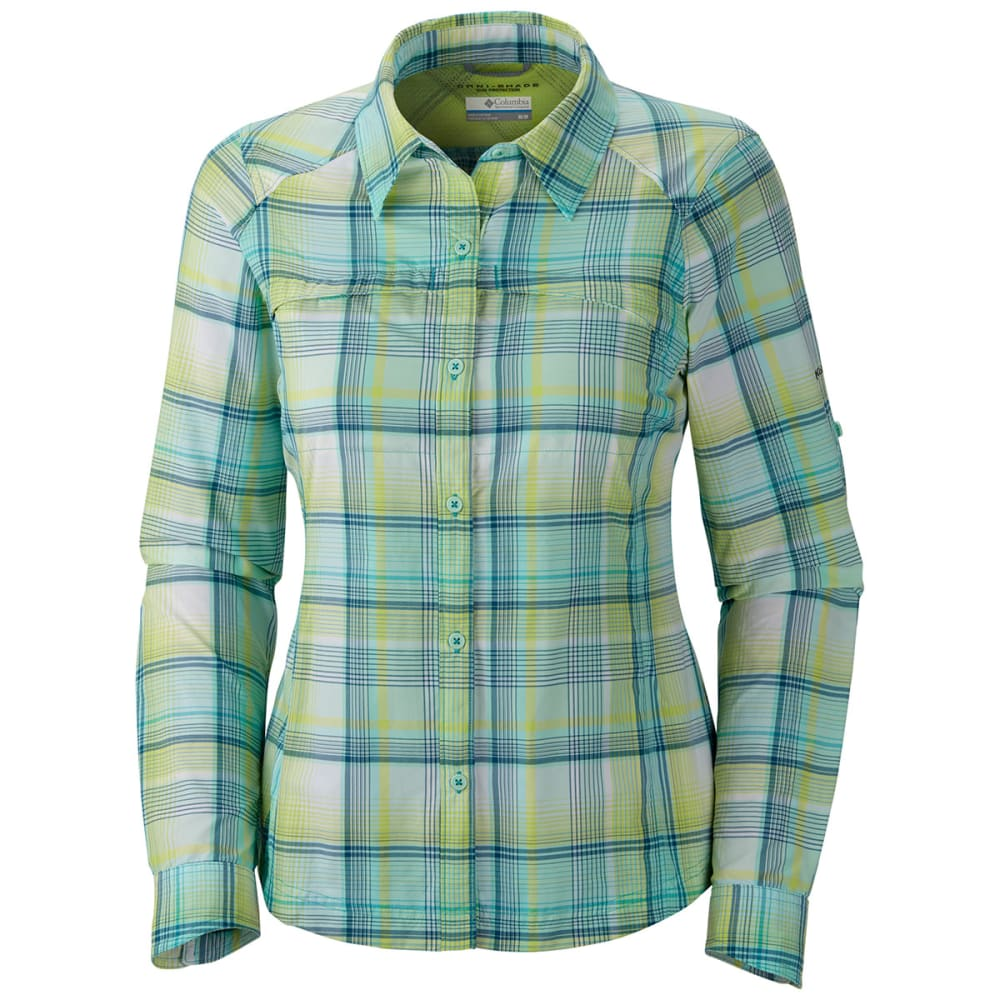COLUMBIA Women's Silver Ridge Plaid Long-Sleeve Shirt - GEYSER