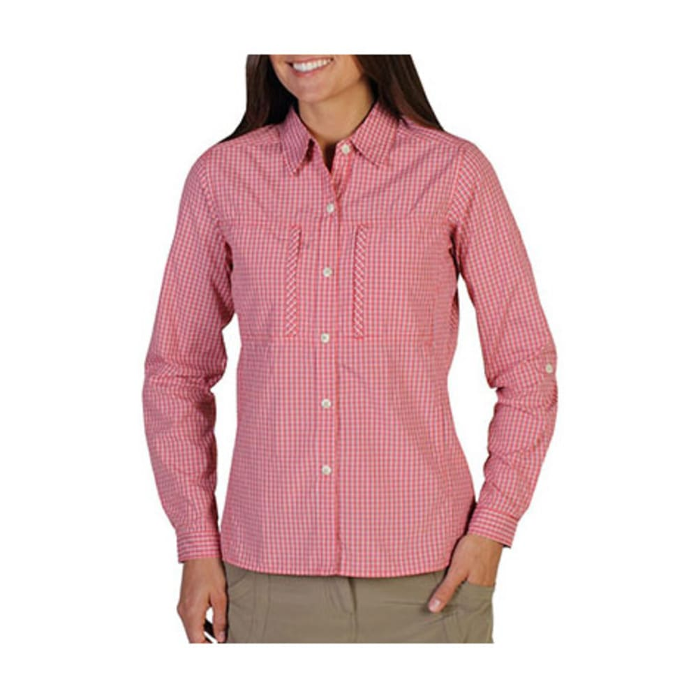 EXOFFICIO Women's Drylite Check Shirt, L/S - NECTAR