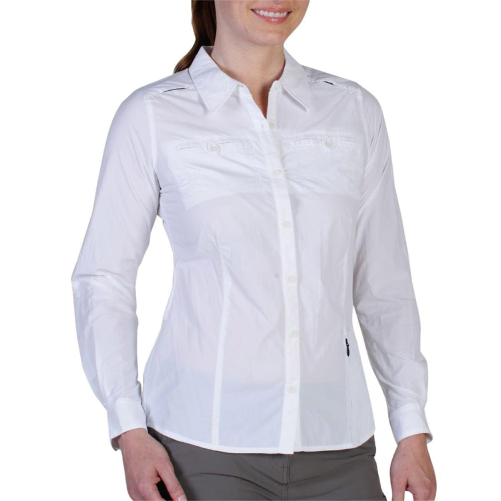 EXOFFICIO Women's Percorsa Shirt, L/S   - WHITE