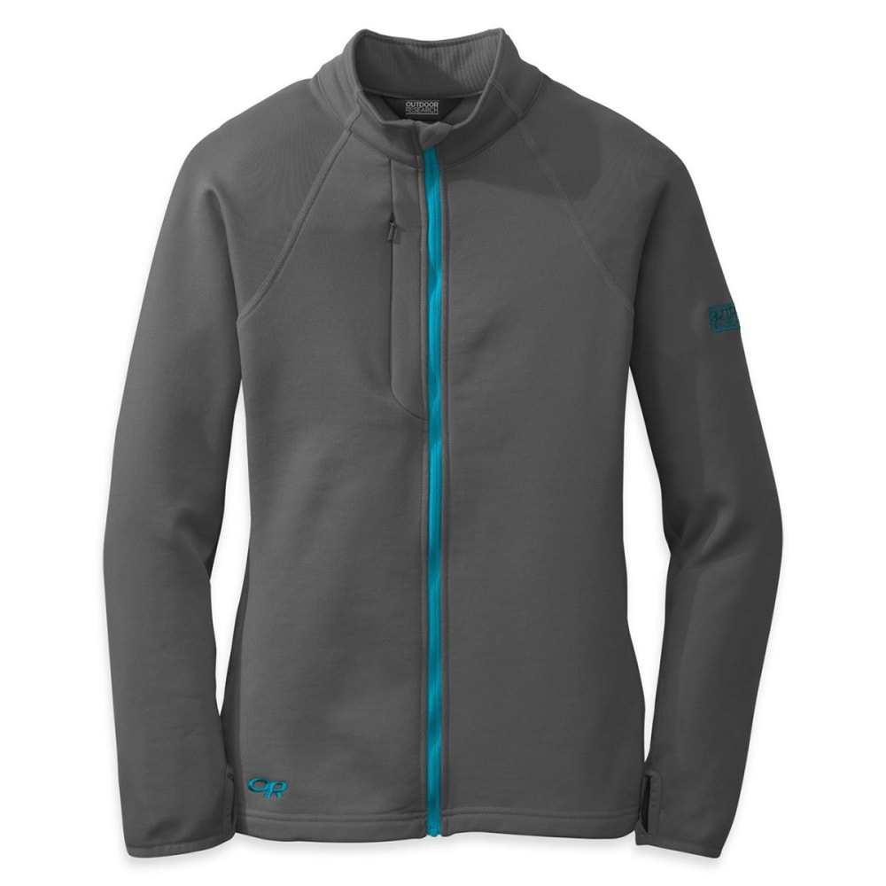 OUTDOOR RESEARCH Women's Radiant Hybrid Jacket - CHARCOAL/ RIO