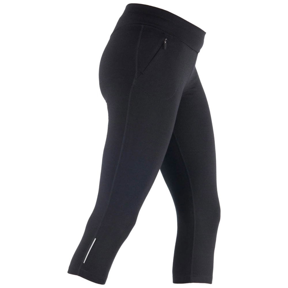 ICEBREAKER Women's Rush 3/4 Tights - BLACK