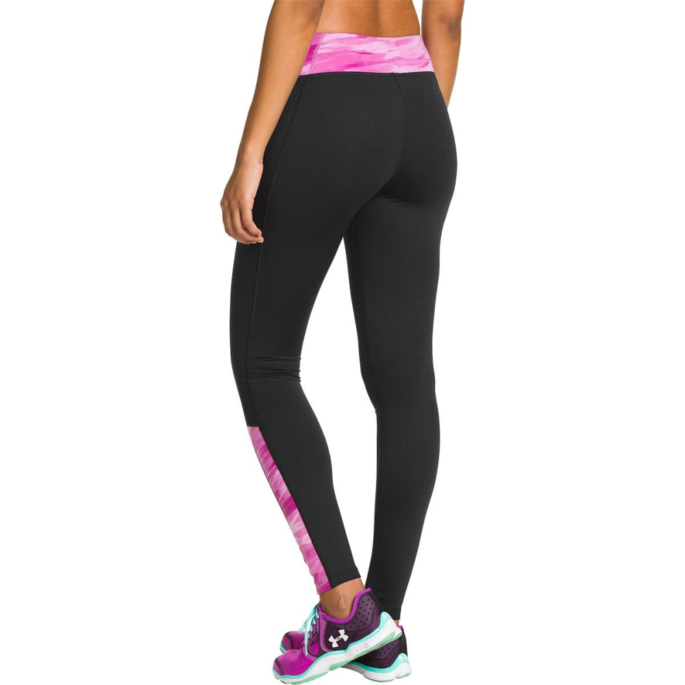 UNDER ARMOUR Womenu0026#39;s ColdGear Cozy Leggings Black/Magenta
