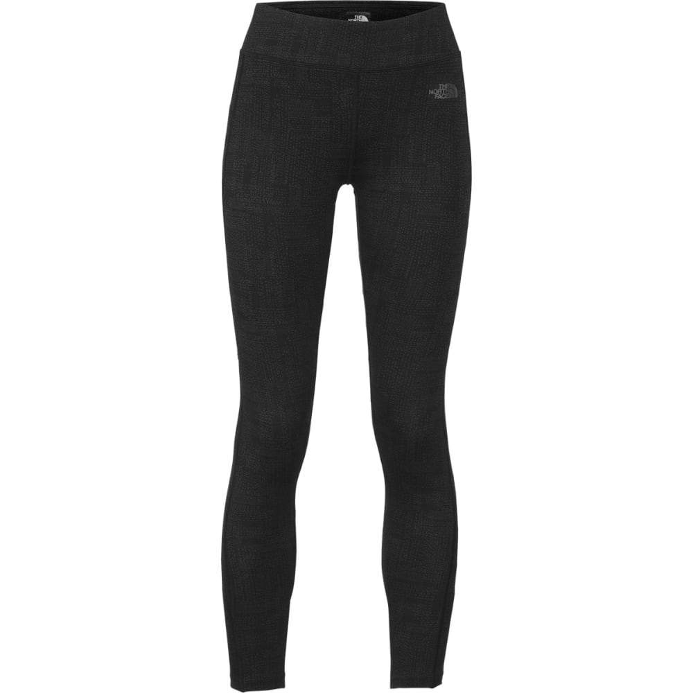 THE NORTH FACE Women's Pulse Tights - BLACK PLAID 1
