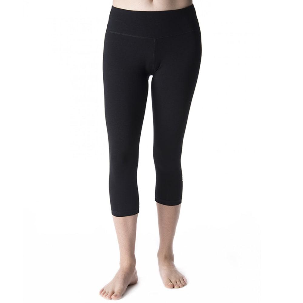 Tasc Womens Nola Crop Capris - Black - Size S T-W-376
