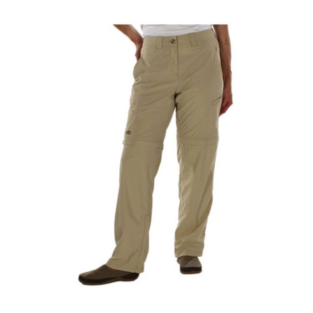EXOFFICIO Women's BugsAway Ziwa Convertible Pants, Regular - LT KHAKI
