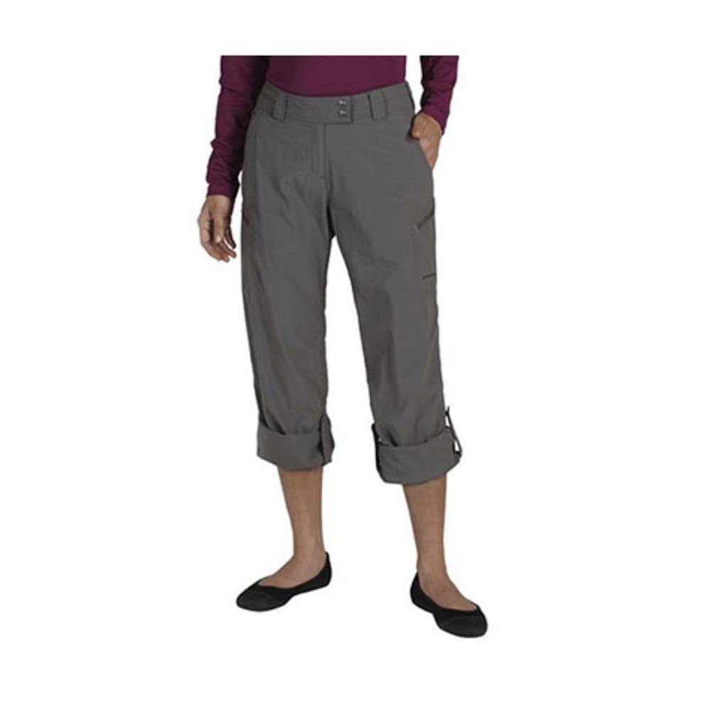 EXOFFICIO Women's Nomad Roll-Up Pants, Regular - SLATE