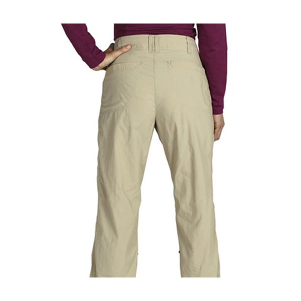 EXOFFICIO Women's Nomad Roll-Up Pants, Regular  - LT KHAKI