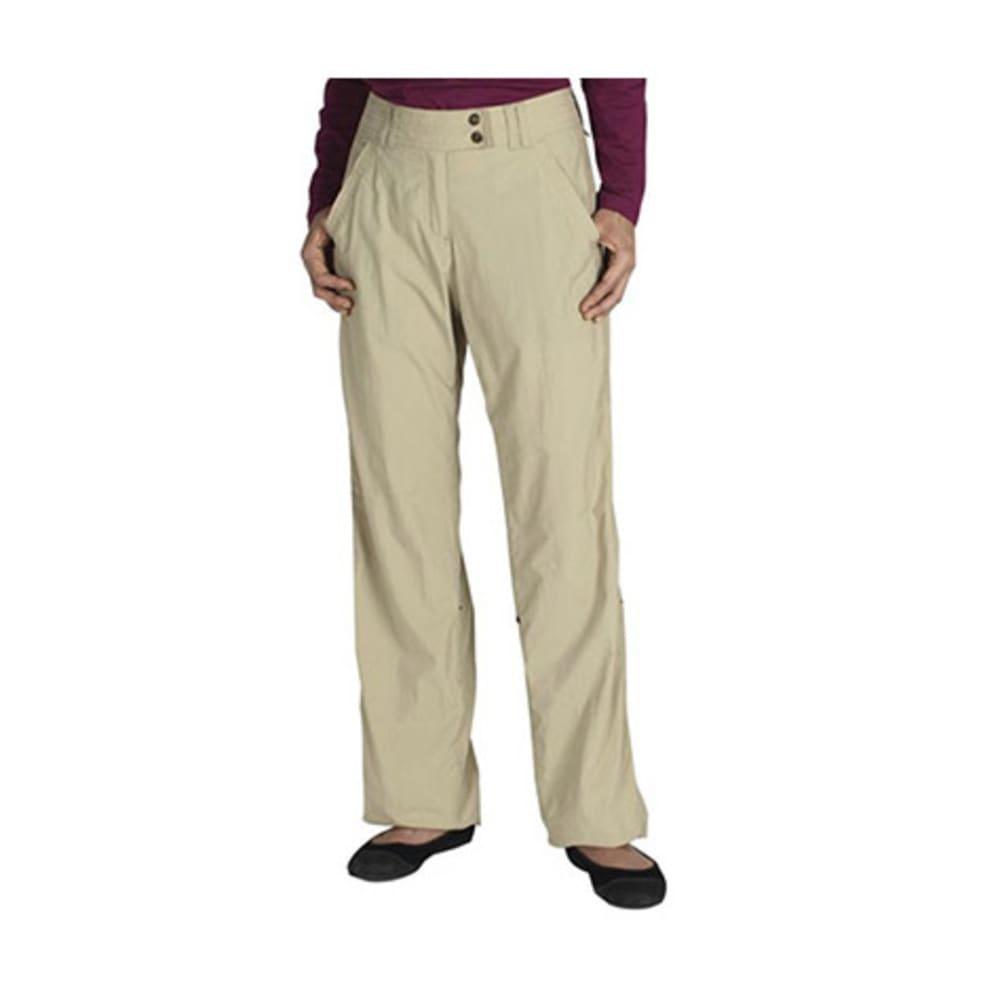 EXOFFICIO Women's Nomad Roll-Up Pants, Regular - LT KHAKI