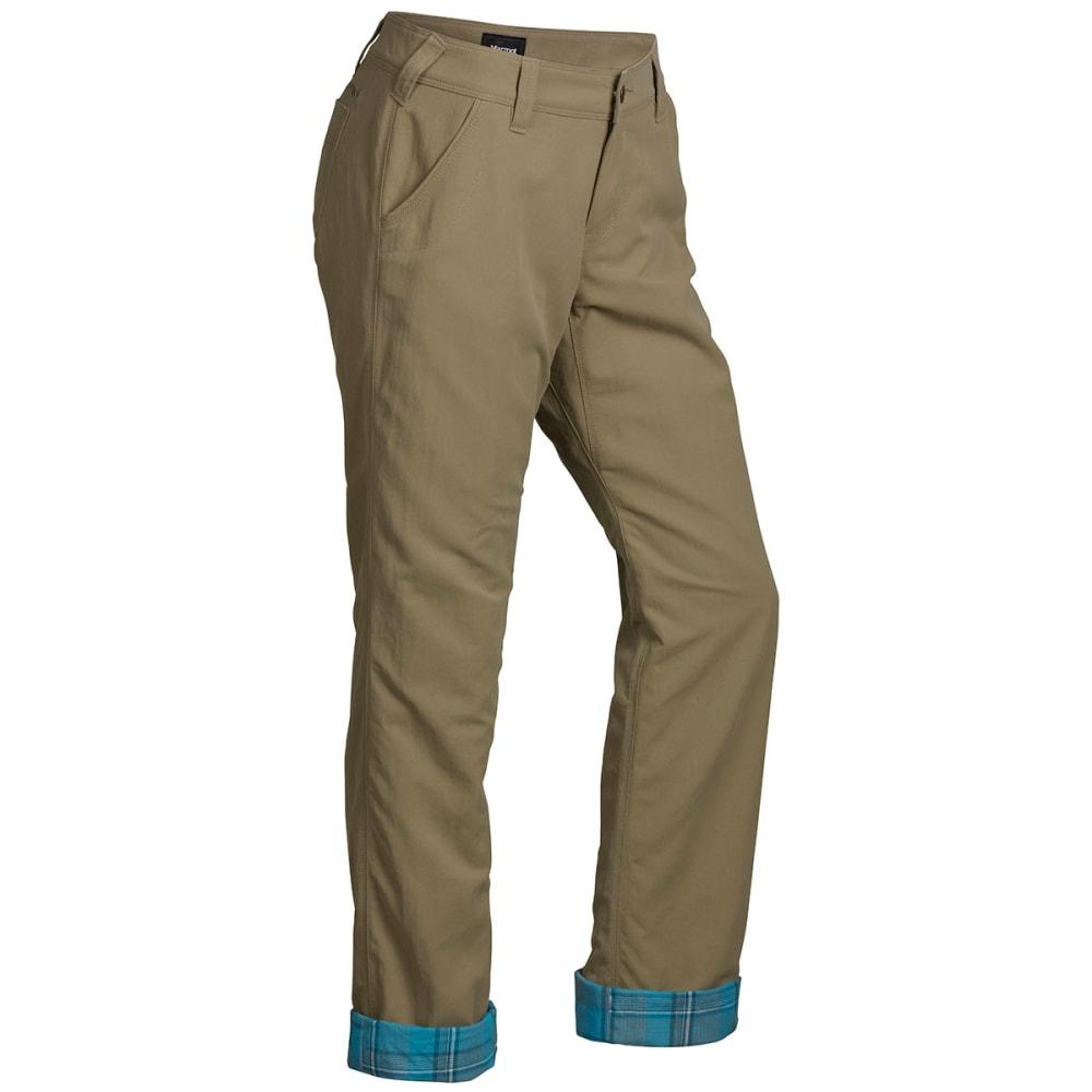 MARMOT Women's Piper Flannel Lined Pant - DESERT/ICE