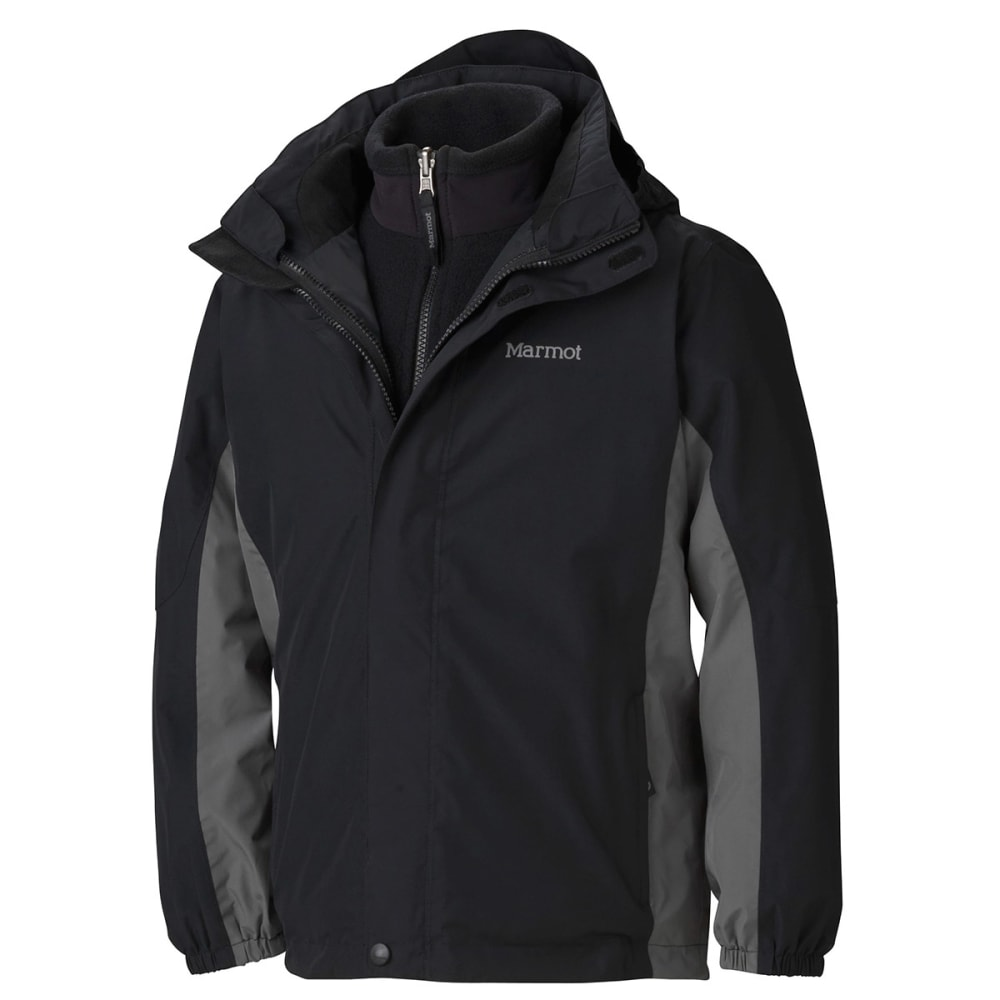 MARMOT Boys' Northshore Jacket - BLACK/CINDER