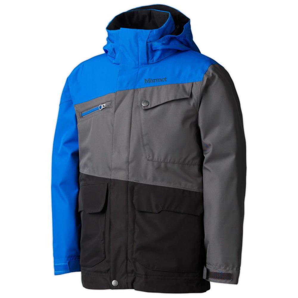 MARMOT Boys' Space Walk Jacket - BLACK/PEAK BLUE