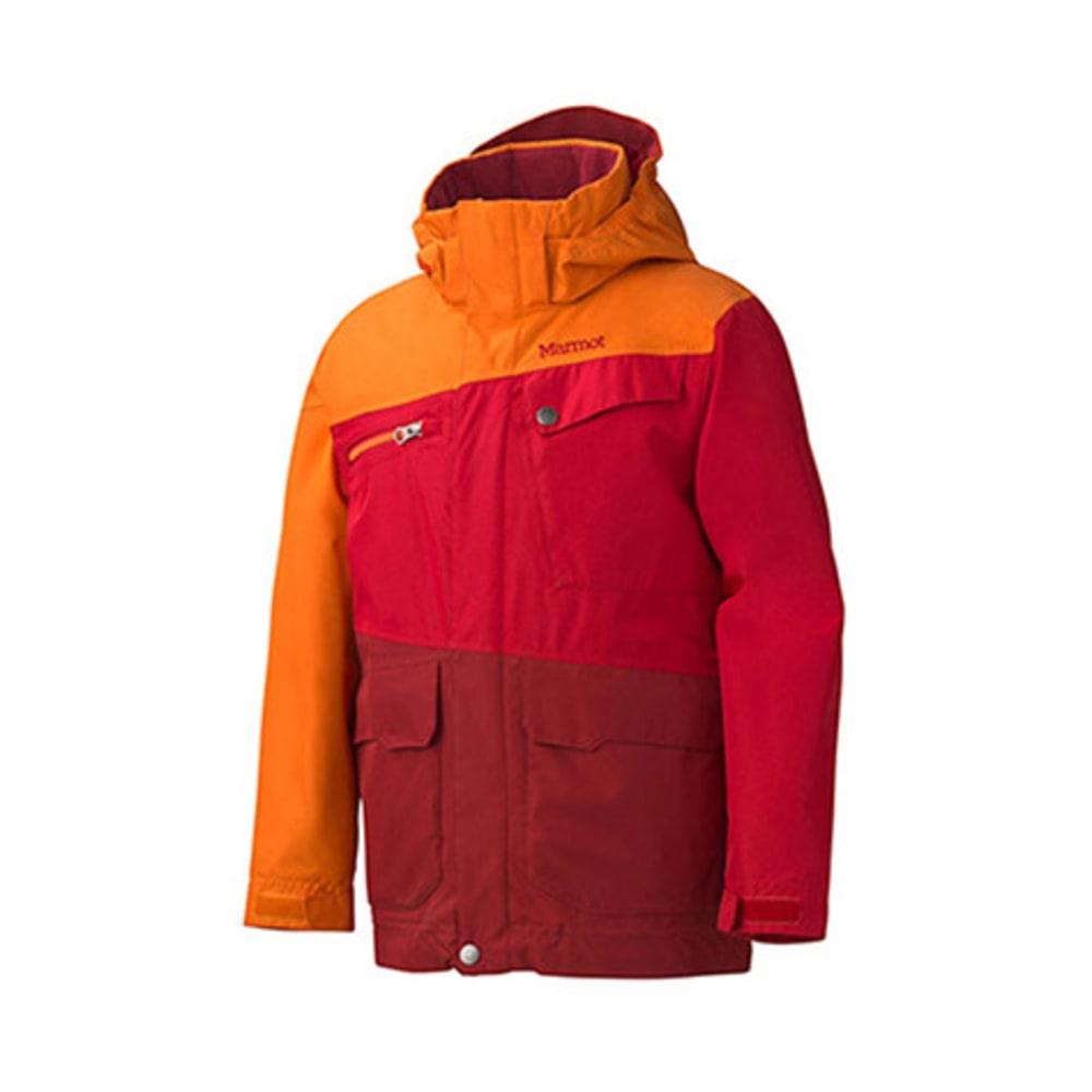 MARMOT Boys' Space Walk Jacket - TEAM RED/VINTAGE ORA