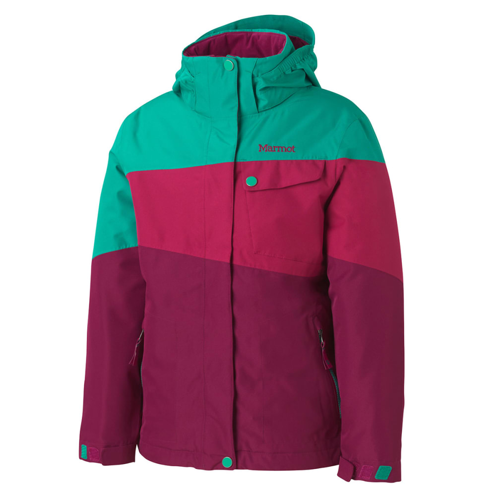 MARMOT Girls' Moonstruck Jacket - PLUM ROSE/LUSH