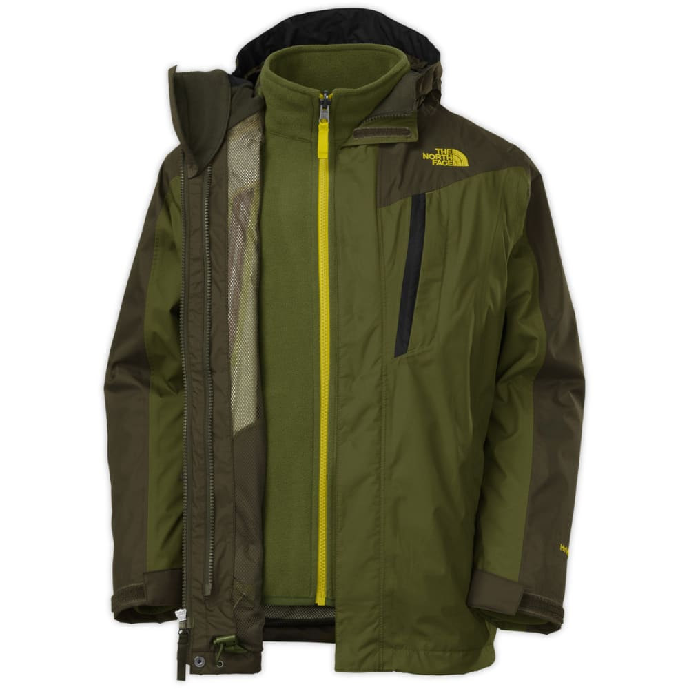 THE NORTH FACE Boys' Vortex Triclimate Jacket - FOREST GREEN