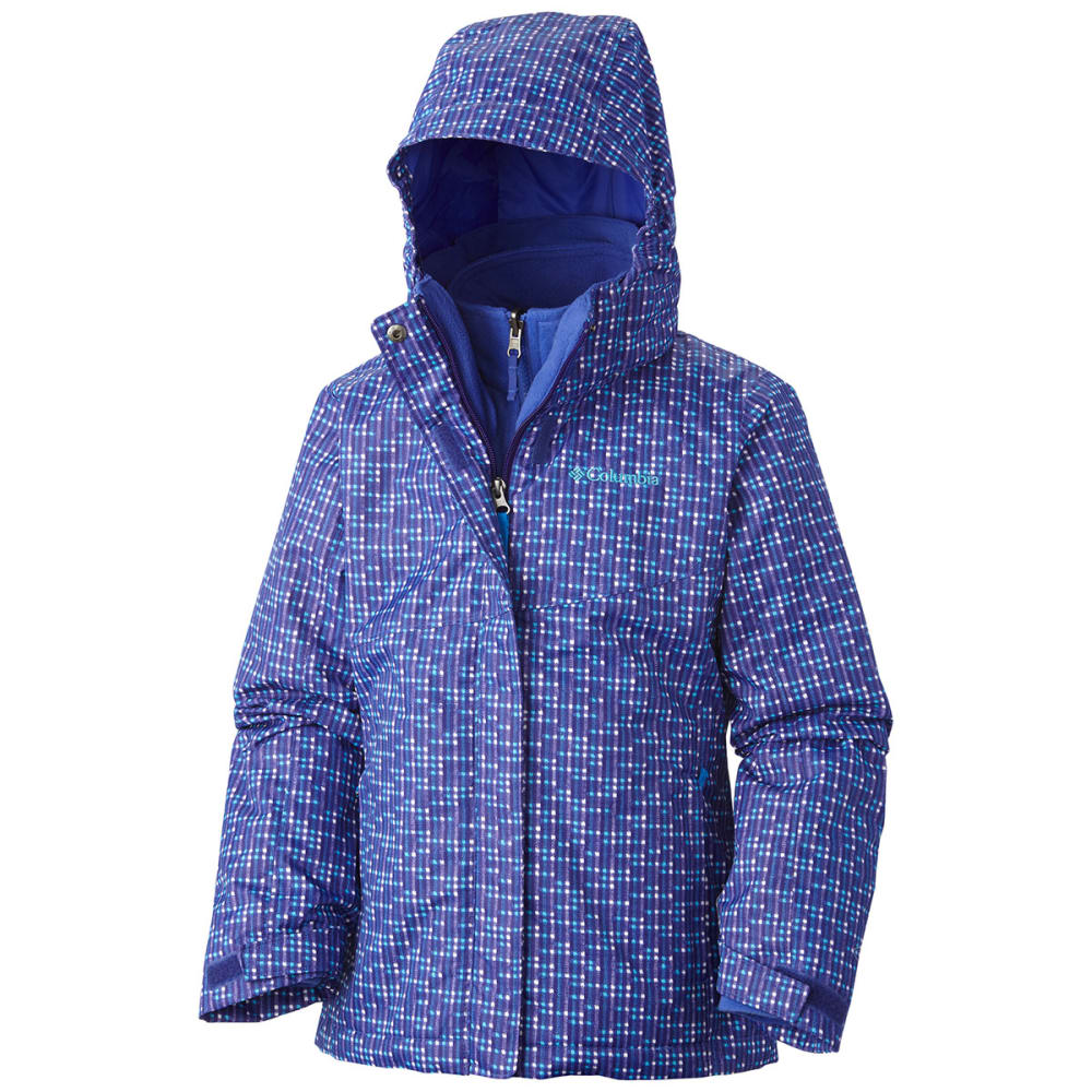 COLUMBIA SPORTSWEAR Girls' Interchange Bugaboo Jacket - HYPER PURPLE