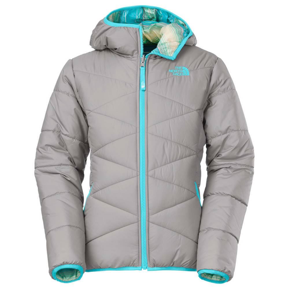 THE NORTH FACE Girls' Reversible Perrito Jacket - SILVER