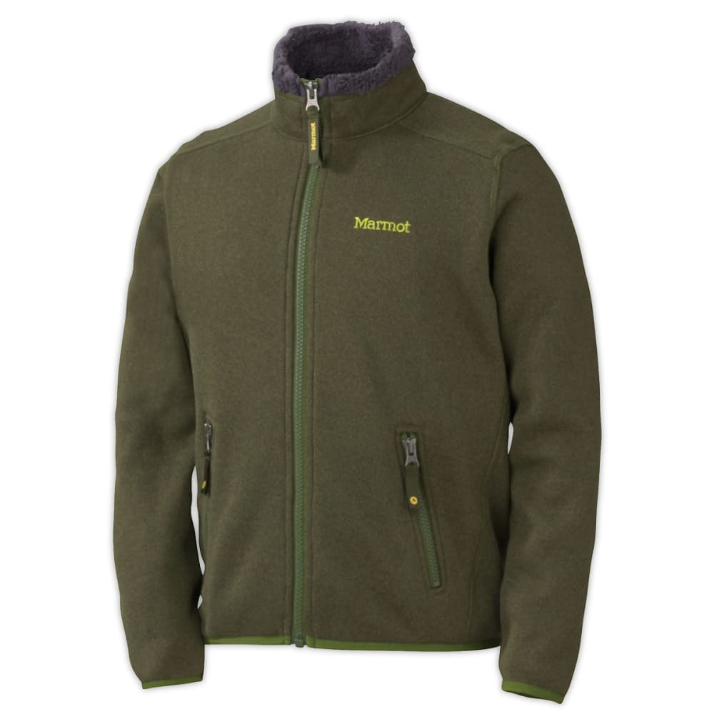 MARMOT Boys' Drop Line Jacket - GREENLAND