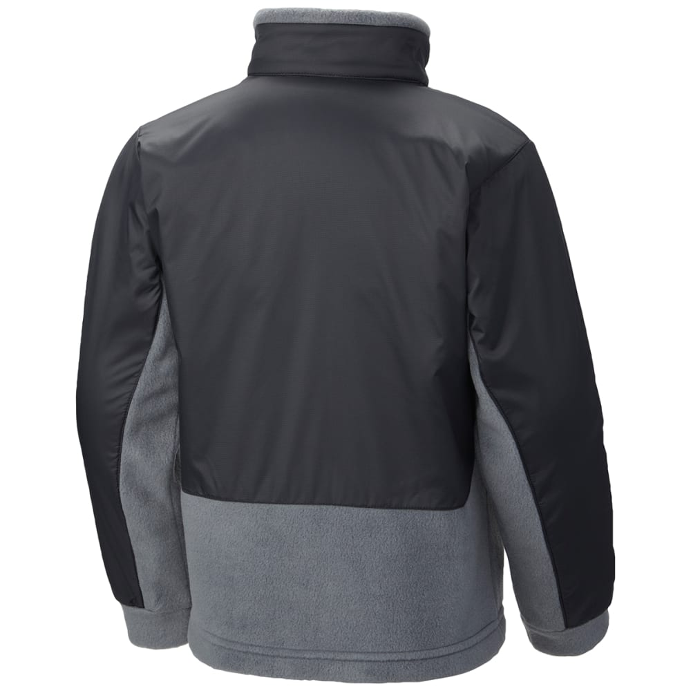 COLUMBIA Boys' Steens Mountain   Overlay Fleece - 011-BLACK