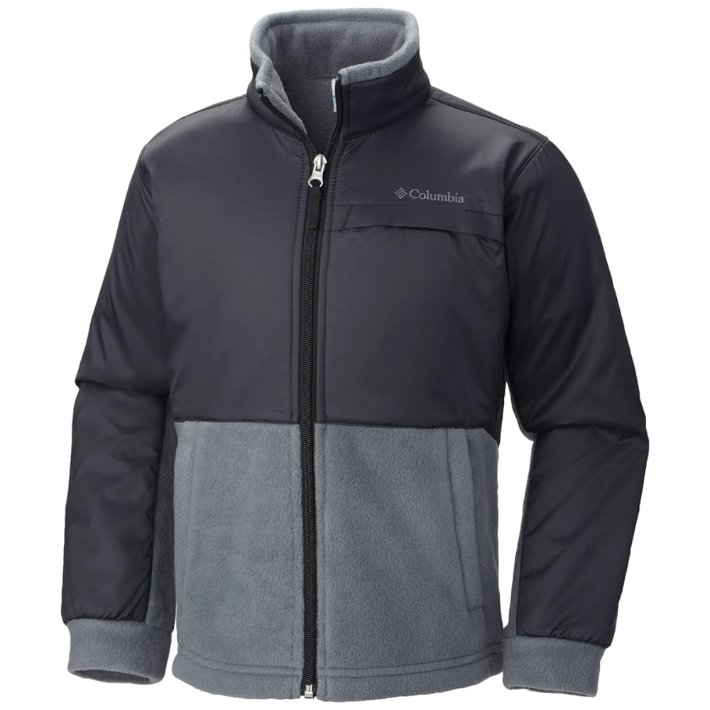 COLUMBIA Boy's Steens Mountain™ Overlay Fleece - 011-BLACK